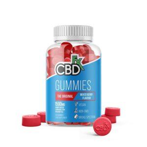 CBDfx Gummy Bears - Original Mixed Berry (Jar of 60 Pcs)