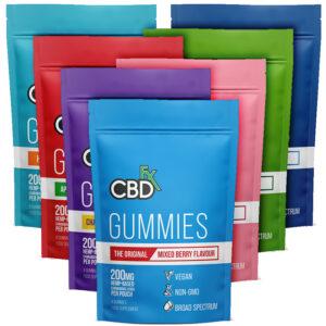 CBDfx Hemp Gummy Bear Pouch 200mg (8 Pieces)