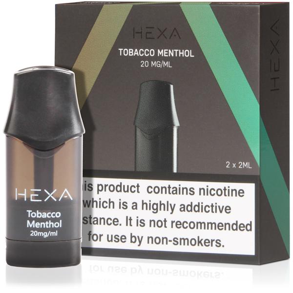 Hexa V1 Pod – Tobacco / Menthol 20mg