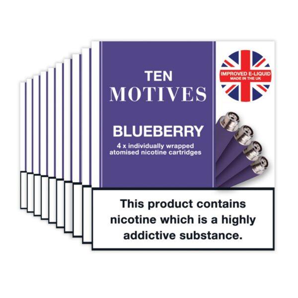 Ten Motives – Blueberry Cartridges X 4