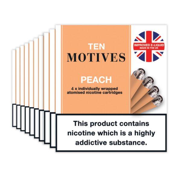 Ten Motives – Peach Cartridges X 4