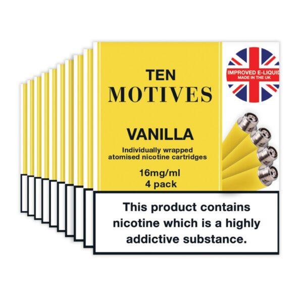 Ten Motives – Vanilla Cartridges X 4