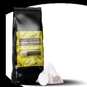 Equilibrium CBD Infused Tea Bags (12 Pieces) - Tumeric & Ginger Tea