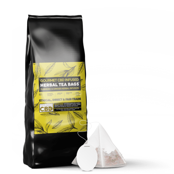Equilibrium CBD Infused Tea Bags (12 Pieces) - Tumeric & Ginger Tea