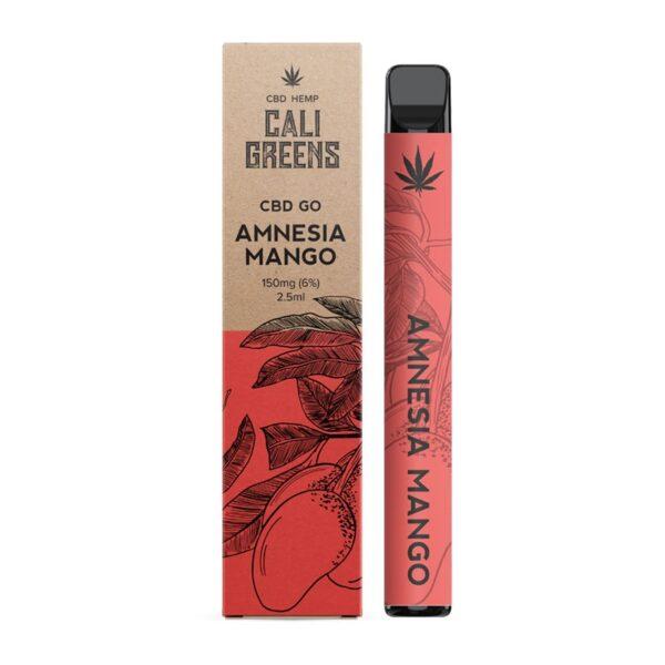 Cali Greens CBD Go Vape Pen 150mg - Amnesia Mango