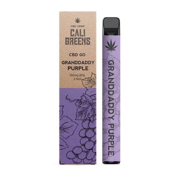 Cali Greens CBD Go Vape Pen 150mg - Granddaddy Purple