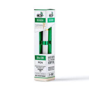 CBDfx Disposable Terpene Infused E-Pen 50mg - OG Kush