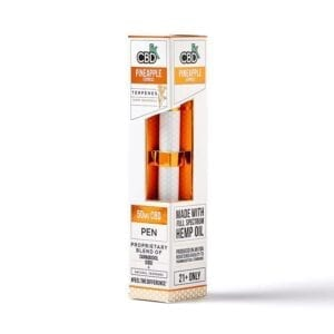 CBDfx Disposable Terpene Infused E-Pen 50mg - Pineapple Express