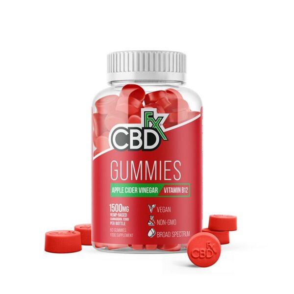 CBDfx Gummy Bears - W/ Apple Cider Vinegar (Jar of 60 Pcs)