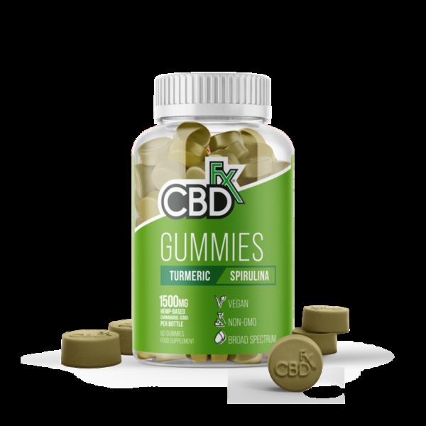 CBDfx Gummy Bears - Turmeric & Spirulina (Jar of 60 Pcs)